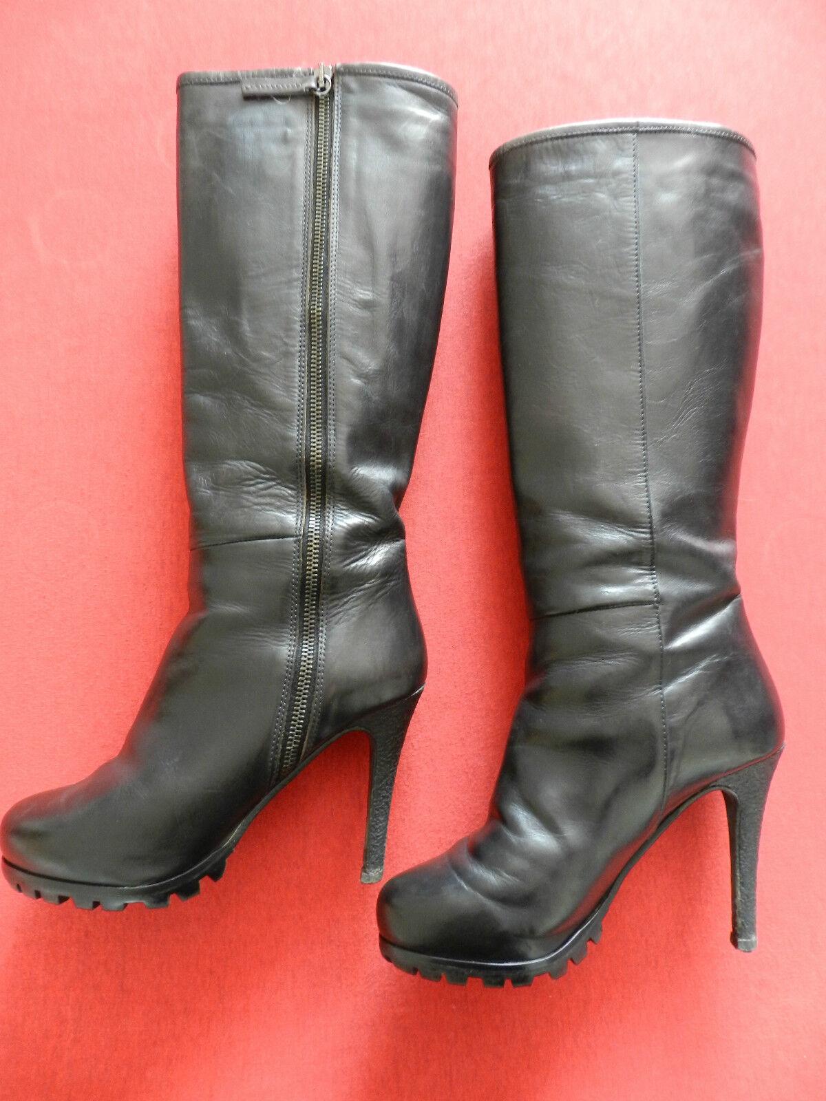 Sexy High Heel  Echt  Leder Stiefel , Gr. 37,5 , von Furla , Absatz 11 cm, OVP