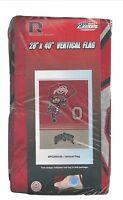 Ohio State Brutus Buckeye House Flag Banner 28 X 40 Team Logos Made In Usa