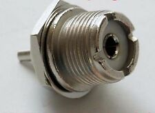 SO239 CHASSIS SOCKET WITH NUT TO SUIT PL259 PLUG RF AERIAL CONNECTOR VHF UHF