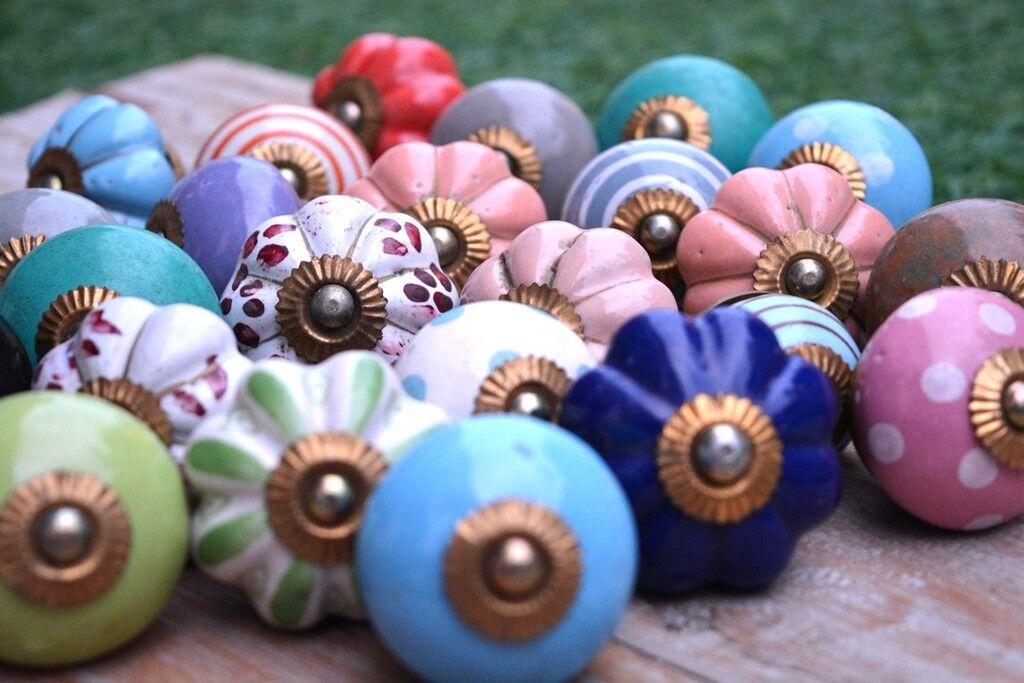 20 Wholesale Assorted Knobs Handles Mix Ceramic Door Pulls Kitchen Knob Drawer