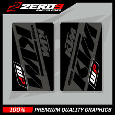 KTM SE1 UPPER FORK DECALS BLACK GREY MOTOCROSS GRAPHICS MX GRAPHICS