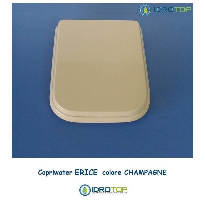 Toilettensitz Cesame Erice Champagne Reißverschluss Chrom-Sitz-Achse Wc