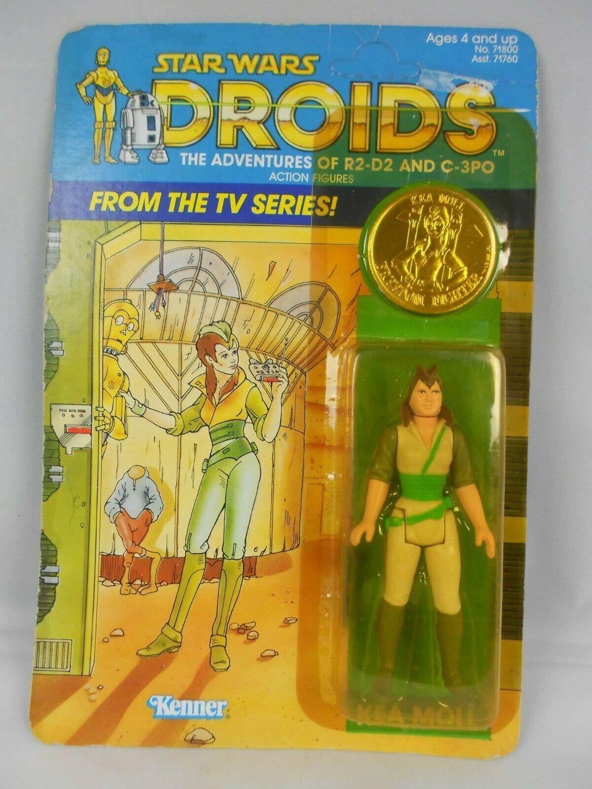 Vintage Star Wars Droids 1985 Kea Moll w Coin Very Nice MINMP - Kenner