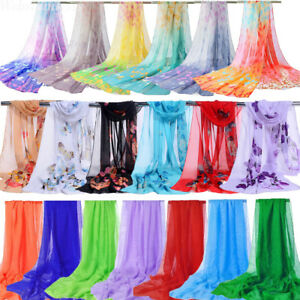 Womens-Long-Soft-Chiffon-Boho-Floral-Scarf-Neck-Wraps-Shawl-Scarves-Stole-Beach