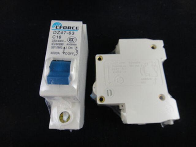 DZ47-63 C16 1P 16A Circuit Breaker