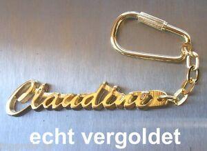 Kenntnisreich Edler SchlÜsselanhÄnger Claudine Vergoldet Gold Name Keychain Weihnachtsgeschenk Billigverkauf 50% Büro & Schreibwaren