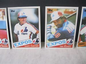 Details About Montreal Expos 1985 Topps Tiffany Baseball Card Set Tim Raines Gary Carter