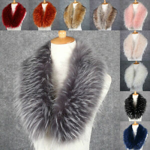Womens-Ladies-Soft-Faux-Fur-Vintage-Scarf-Collar-Winter-Warm-Wrap-Stole-Shawl