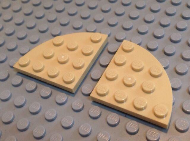 3 4x4 Yellow Round Plate Bricks ~  Lego  ~ NEW ~