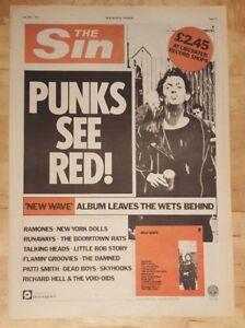 Punk-new-wave-Sin-ramones-runaways-1977-press-advert-Full-page-28-x-39-cm-poster