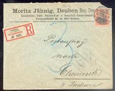 DR 1900 59 R-BRIEF POSTAUFTRAG DAUBEN 100€(B0385