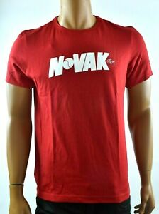 Lacoste-Sports-Mens-NOVAK-DJOKOVIC-Red-T-shirt-L-XL-XXL-5-6-7-New-Graphic-Tee