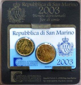 SAX2003X.2 - MINI SET SAINT MARIN - 2003 - 20 et 50 cents