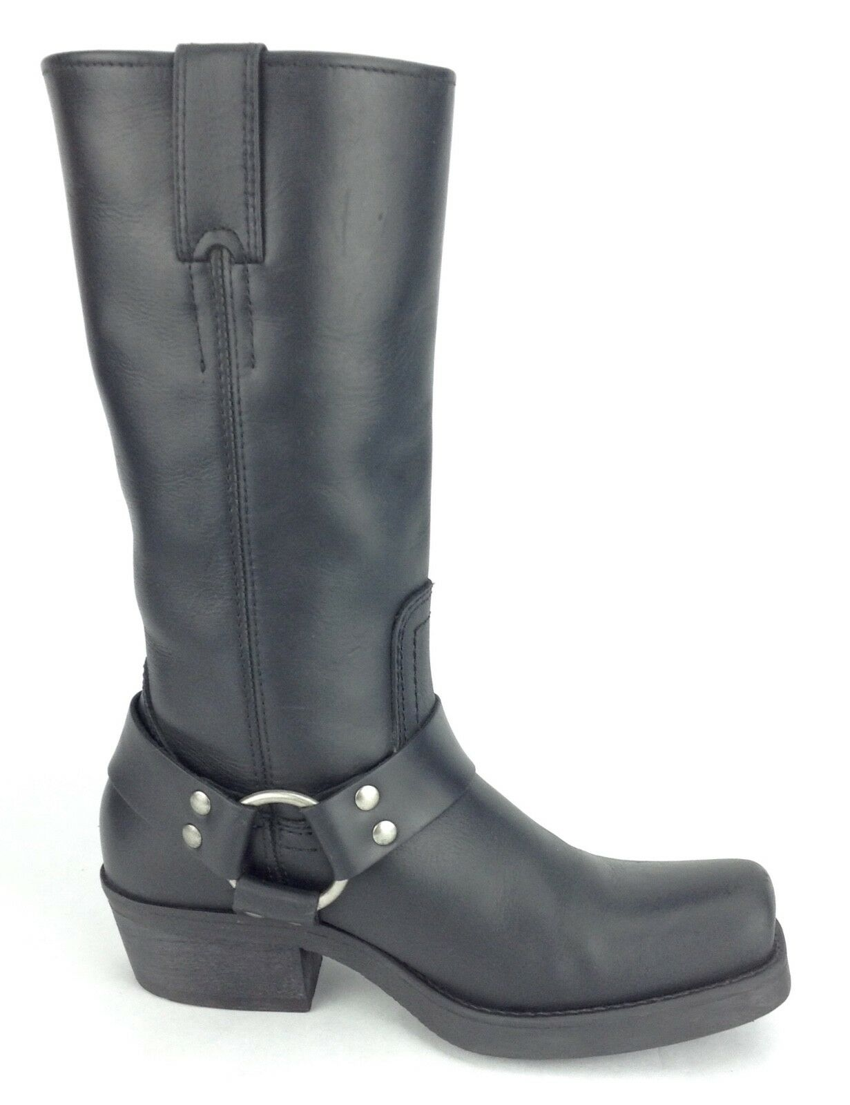BP Motorcycle Boots Hightail Black Leather Harness Square Toe Women's 6.5