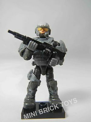HALO Mega Bloks ECHO Series 14 Grey Spartan Marine UNSC Common MiniFigure NEW