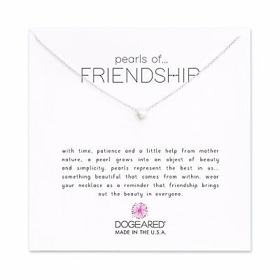 """Dogeared Sterling Silver Small Pearls Of Friendship 16""""-18""""  Boxed Necklace"""