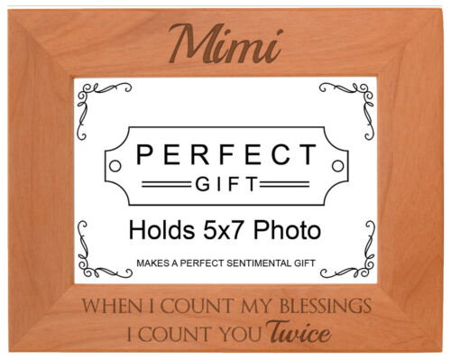 Mimi Photo Frame I Count You Twice Mimi Mother/'s Day Frame Laser Engraved Frame
