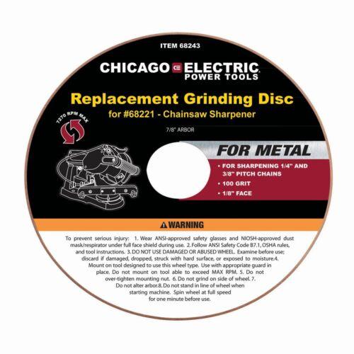 "Chain Saw Sharpener 4-1//4/"" Aluminum Oxide Grinding Disc"