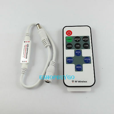 Wireless Mini RF single color led dimmer Controller 12A 144W DC5-24V