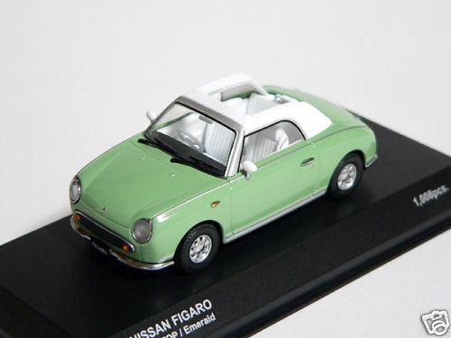 Nissan FIGARO  1 43 1 43 DieCast Model Opened Emerald Kyosho nouveau MEGA RARE     en bonne santé