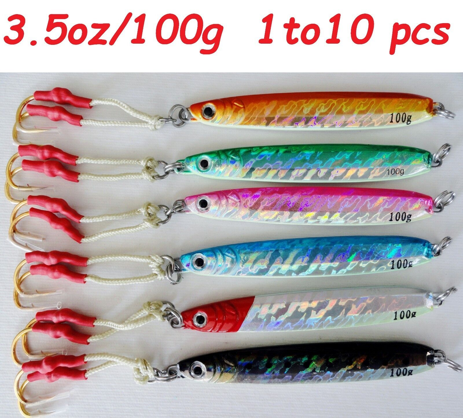 Knife Jig 3.5oz /100g Vertical Butterfly to Saltwater Fishing Lures 1 to Butterfly 10 Pieces 592548