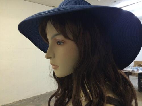 Fashion Girl Beach Sun Visor Foldable Roll up Wide Brim Straw Hat Cap
