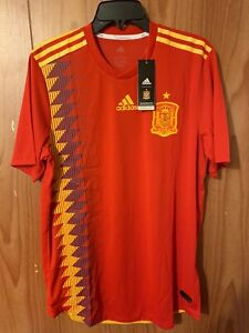 official photos 9efd2 3452e Details about Brand New Adidas 2018 World Cup Spain Home Authentic Jersey  BR2724 Size (L) $130