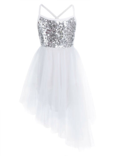 Sequined Tutu Ballerinas Stage Costume Kids Girl/'s Lyrical Dance Dress Leotard