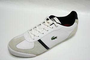 f0d263e6f76e82 Lacoste mens 7-22SPM ALERON S SPM CROC white red Leather sneakers ...