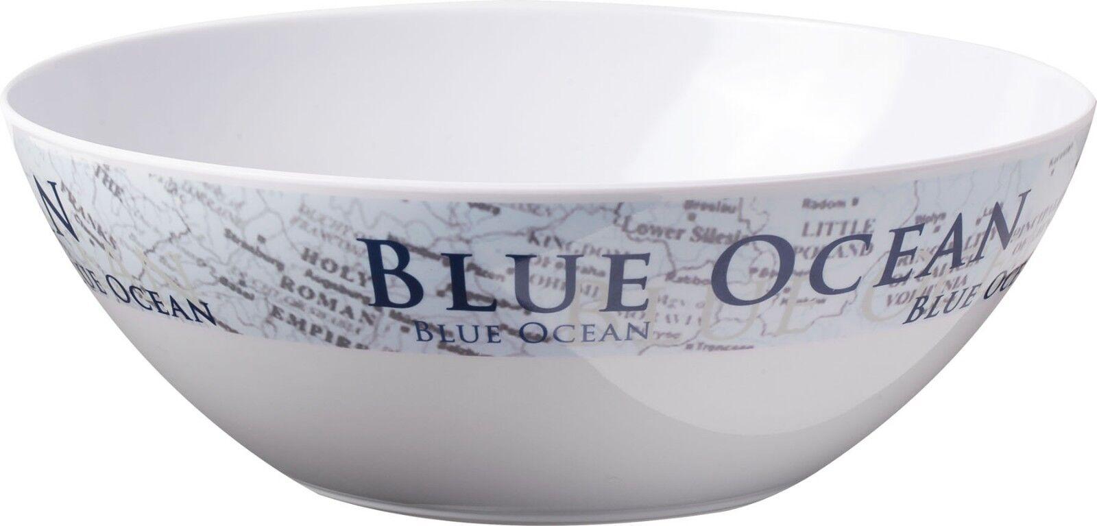 Piatti melamina stile nautica Blue Blue Blue Ocean Brunner antiscivolo resistenti camping a85667