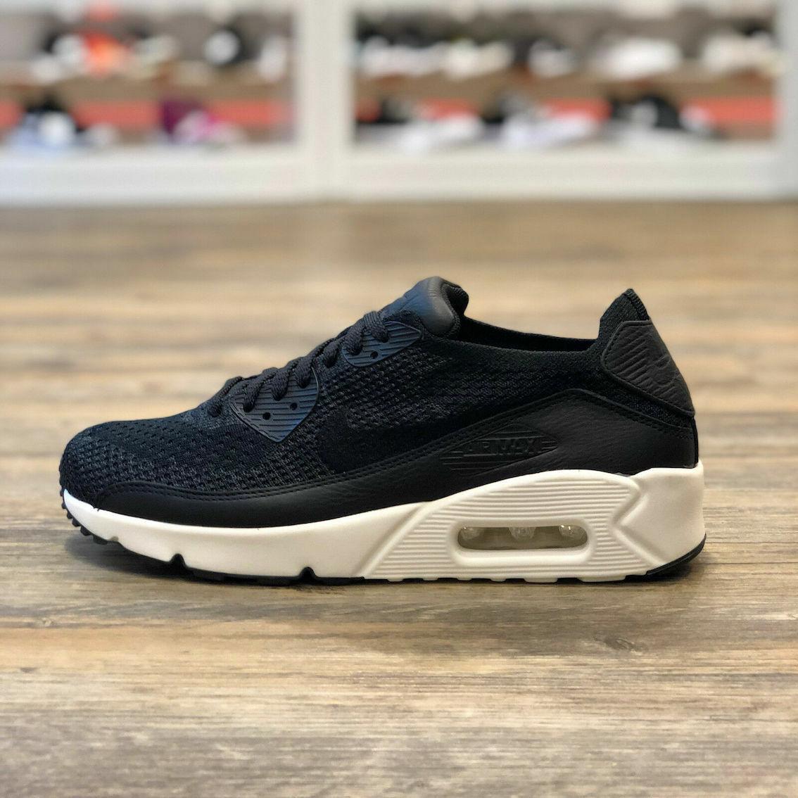 Nike Air Max 90 Ultra Flyknit Gr.38,5 Schuhe Turnschuhe schwarz weiß Neu 876320 001