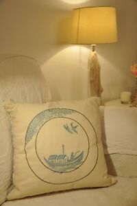CUSHION COVER by GP & J BAKER  QUALITY EMBROIDERED ORIENTAL DESIGN