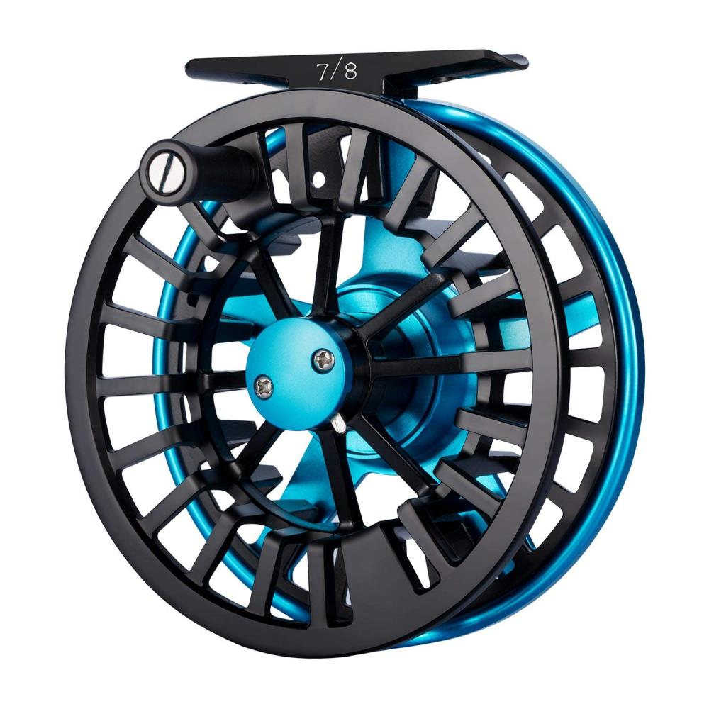 Piscidivertiuominito Aoka Aluminum Fly pesca Reel with CorkTeflon Disc Drag System
