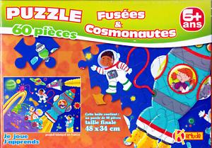 Puzzle-Enfant-60-Pieces-Fusee-Et-Cosmonautes-6-Ans-de-KERLUDE
