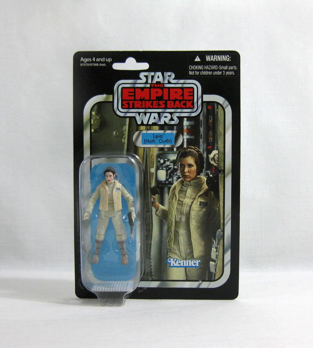 nouveau  2010 STAR WARS ✧ Leia Hoth ✧ collection vintage VC02 MOC  bienvenue à choisir