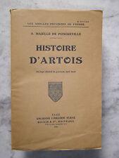 A. MABILLE de PONCHEVILLE - HISTOIRE D' ARTOIS - 1935  Boulogne - Arras - Lens