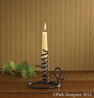 Courting Candlestick Candle Holder By Park Designs - Black Iron Metal 6.5 H