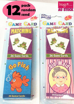 12x 36pcs Matching Game First Word Learning Educational Flash Card 15048