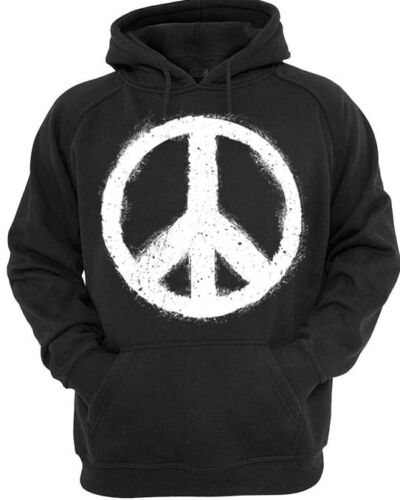 Grunge Peace Hoodie Mens Womens hoody sprayed distressed love hippy nature