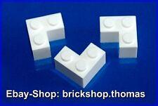 Lego 3 x Steine Ecke Winkel weiß - 2357 - Corner Brick 2 x 2  white - NEU / NEW