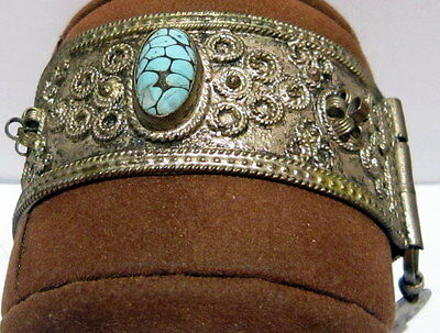 Beautiful Antique 1800s'.silver Bracelet In 2 Parts,amazing Filigree # 547 Big Clearance Sale Byzantine Antiques