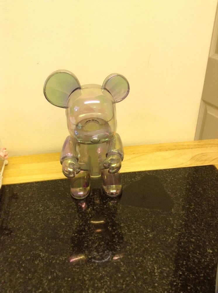 Authentic Qee Bear Clear Rare 8 Inch