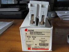 New Federal Pioneer Federal Pacific NA240 2 Pole 40 amp Stab-Lok Circuit Breaker