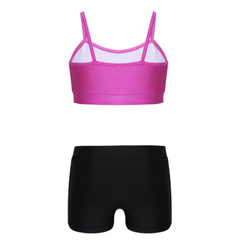 Girls Love Dance Booty Shorts Workout Outfits Kids Dance Yoga Sports Gym Clothes