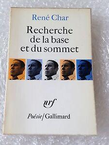 recherche-de-la-base-et-du-sommet-rene-Char-poesie-Gallimard-NRF-1971