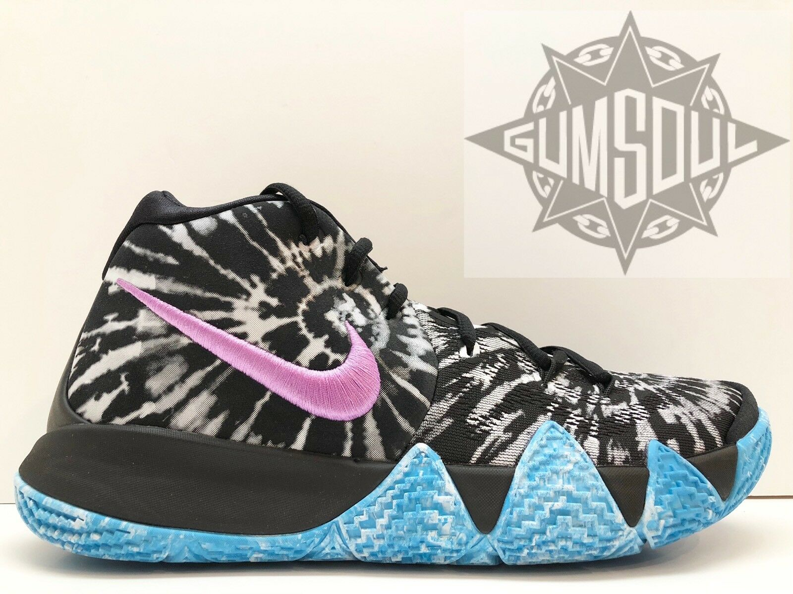 NIKE KYRIE 4 AS ALL BLACK STAR GAME TIE DYE BLACK ALL  WHITE PURPLE BLUE AQ8623 001 sz 10 213447