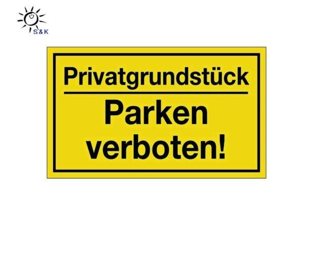 Schild : Privatgrundstück / Parken verboten ! Länge 250 x Breite 150 mm