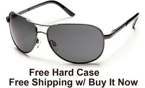 7d0c1d5e514 Image is loading Suncloud-Aviator-Sunglasses-Gunmetal-Frame-w-Grey-Polarized -