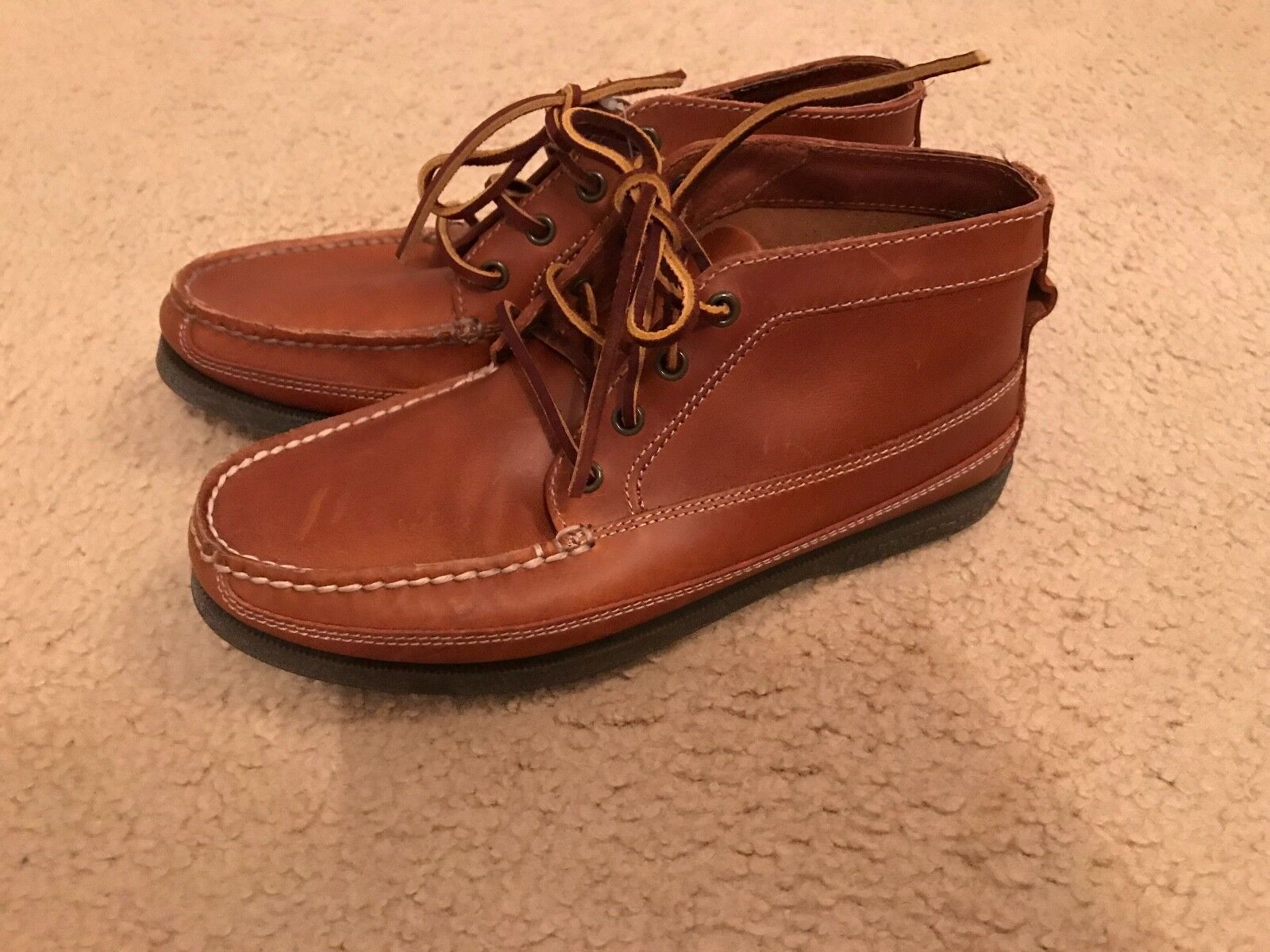 SPERRY TOP-SIDER FOR JCREW CHUKKA ANKLE BOOTS SIZE 8 BROWN