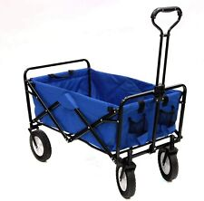 Collapsible Wagon Sports Folding Utility Cart On Wheels Grocery Shopping Basket